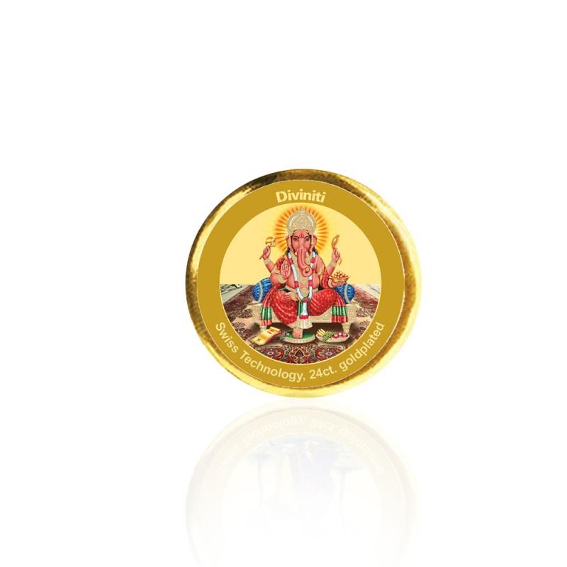 24K GOLD PLATED COIN SINGLE SIDED SIZE 3C GANESHA