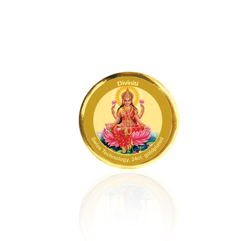 24K GOLD PLATED COIN SINGLE SIDED SIZE 3C LAKSHMI