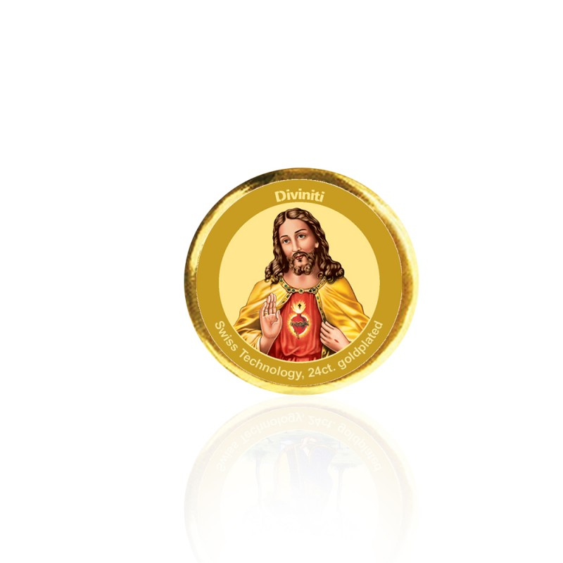 24K GOLD PLATED COIN SINGLE SIDED SIZE 3C JESUS