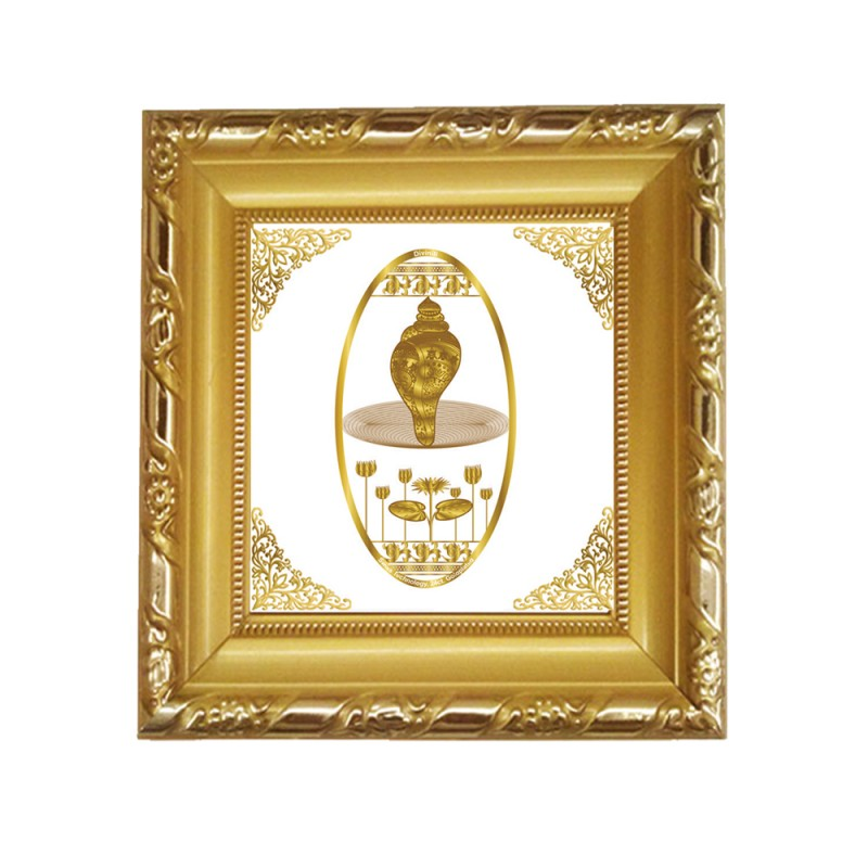 24K GOLD PLATED DG FRAME 103 SIZE 1A ROYALE  GOLD LOTUS SHANKH