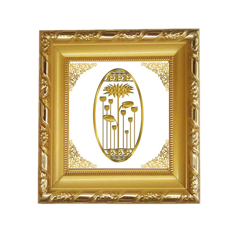 DG FRAME 103 SIZE 1A ROYALE  GOLD  OVAL LOTUS