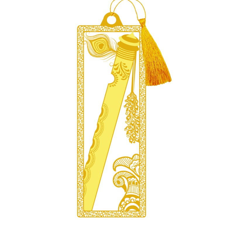 24K GOLD PLATED BOOKMARK ACRYLIC FLUTE