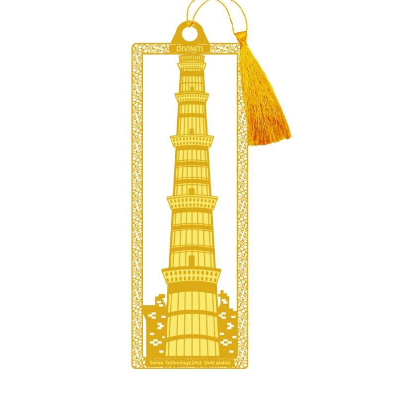 24K GOLD PLATED BOOKMARK ACRYLIC QUTUB
