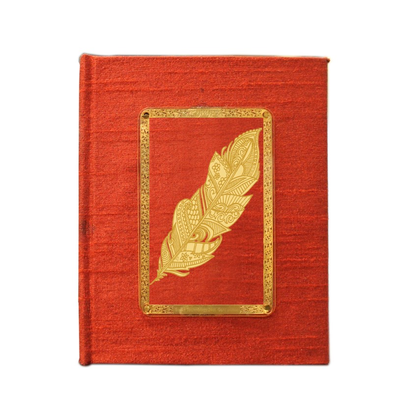 24K GOLD PLATED JOURNAL & NOTEBOOK ACRYLIC LEAF