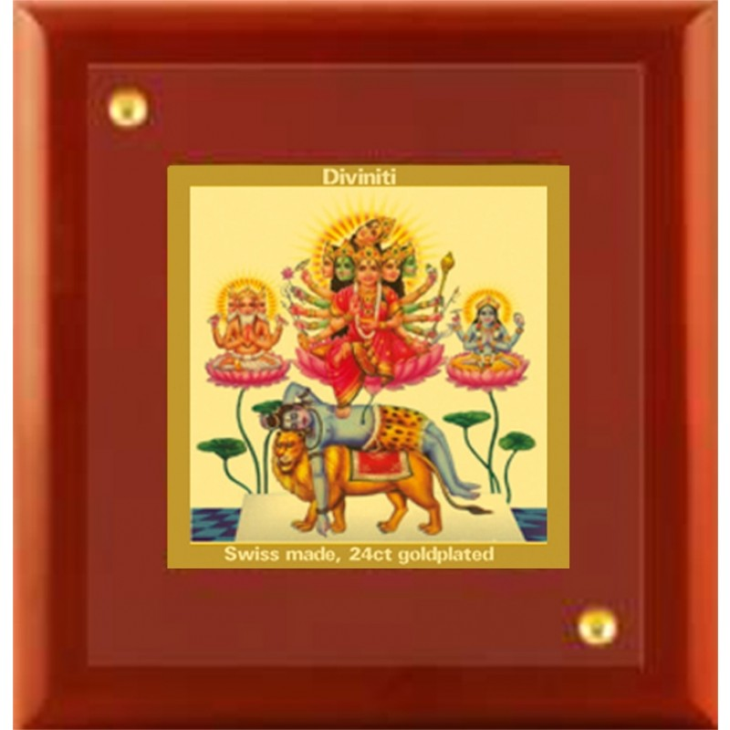 24K GOLD PLATED MDF FRAME SIZE 1A CLASSIC COLOR MAA BAGLAMUKHI