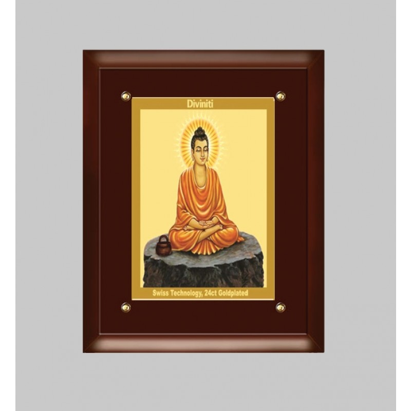 24K GOLD PLATED MDF FRAME SIZE 4 CLASSIC COLOR BUDDHA -2