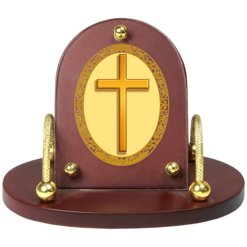 24K GOLD PLATED MDF 7D+ ROYALE CLASSIC OVAL HOLY CROSS