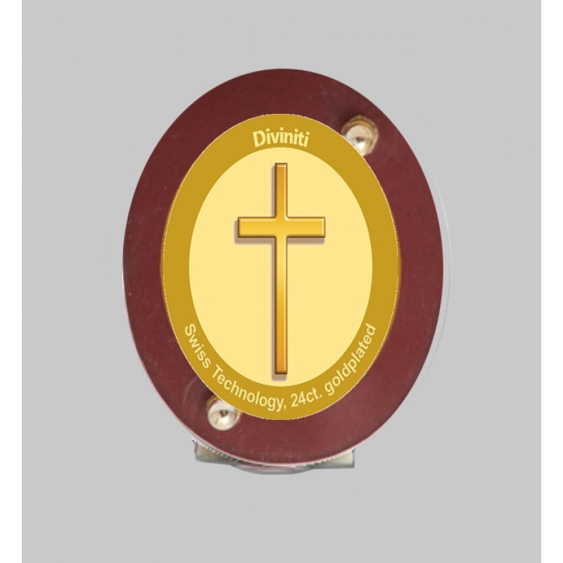 24K GOLD PLATED MDF 1D CLASSIC COLOR HOLY CROSS