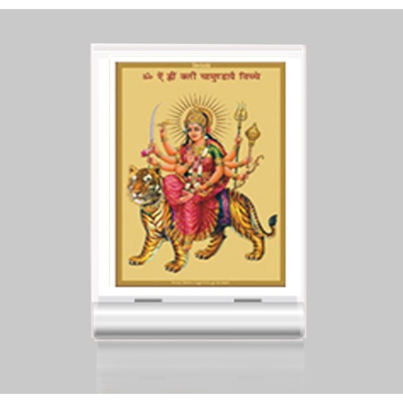 24K GOLD PLATED ACF 3 CLASSIC COLOR DURGA WITH MANTRA