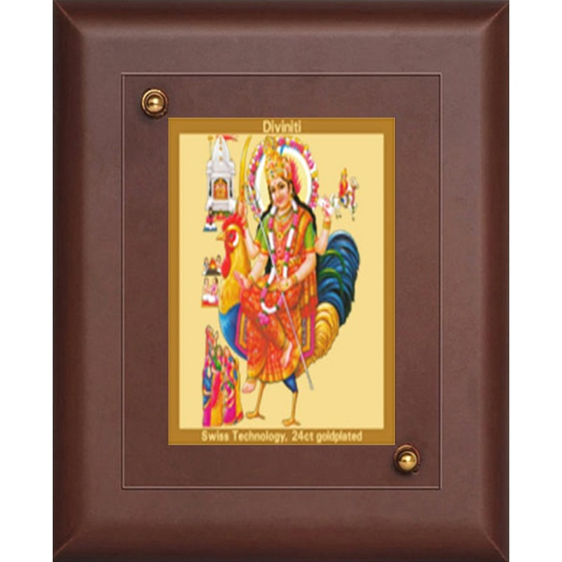 24K GOLD PLATED MDF FRAME SIZE 1 CLASSIC COLOR GODDESS BAHUCHAR MATA