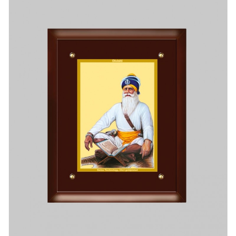 24K GOLD PLATED MDF FRAME SIZE 4 CLASSIC COLOR BABA DEEP SINGH