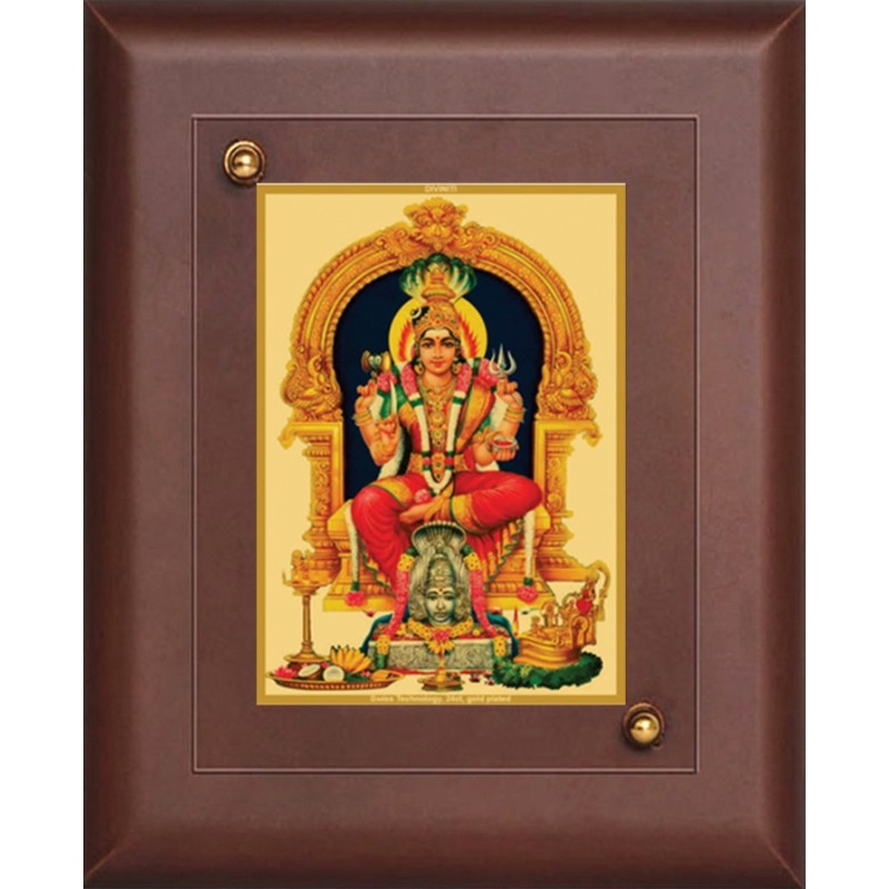 24K GOLD PLATED  MDF FRAME SIZE 1 CLASSIC COLOR KARUMARIAMMAN