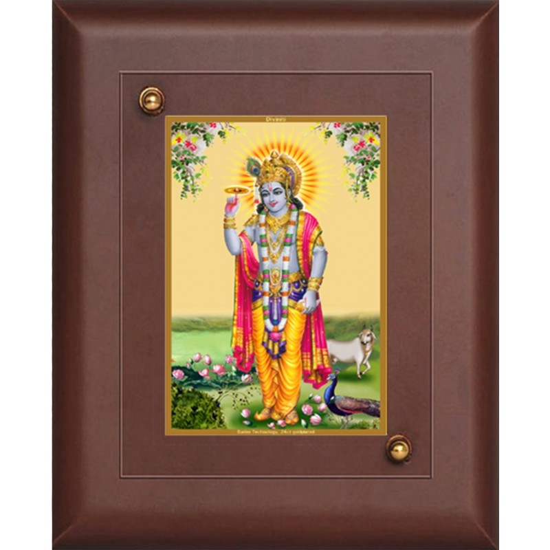 24K GOLD PLATED MDF FRAME SIZE 1 CLASSIC COLOR KRISHNA 5