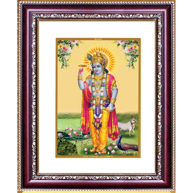 24K GOLD PLATED DG FRAME 105 SIZE 1 CLASSIC COLOR RADHA KRISHNA -3