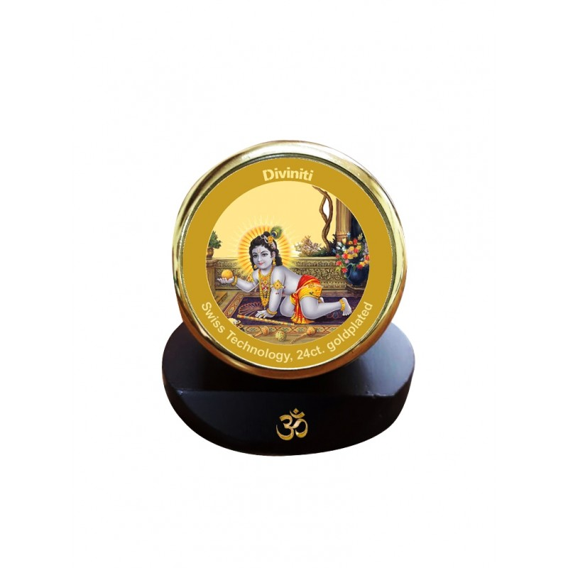 24K GOLD PLATED MCF 1C GOLD CLASSIC COLOR LADDU GOPAL