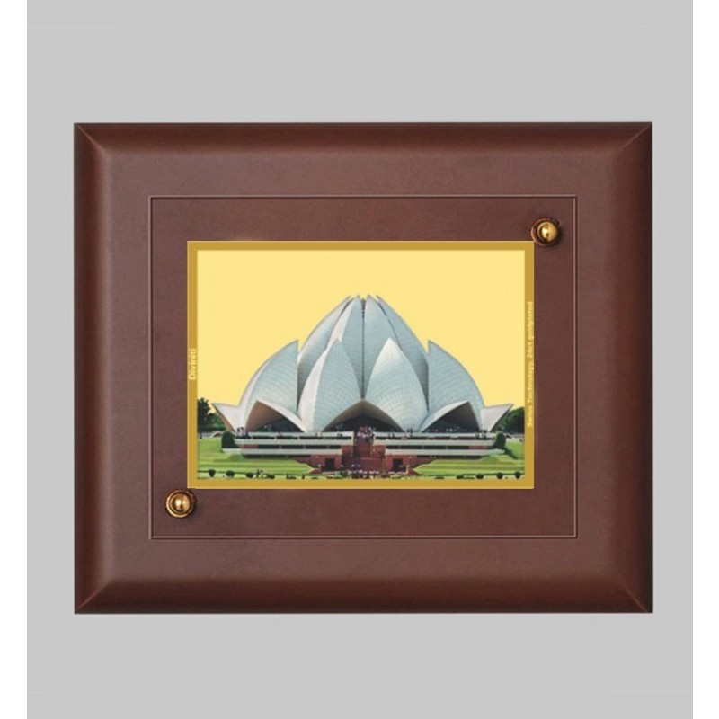24K GOLD PLATED MDF FRAME SIZE 2 CLASSIC COLOR LOTUS TEMPLE
