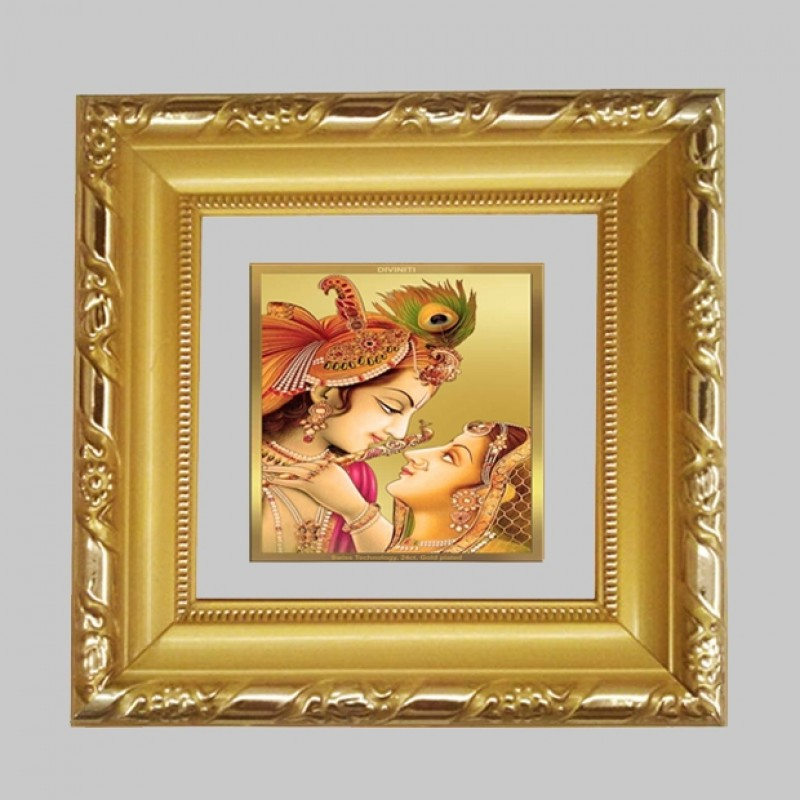 24K GOLD PLATED DG FRAME 103 SIZE 1A CLASSIC COLOR RADHA KRISHNA-5