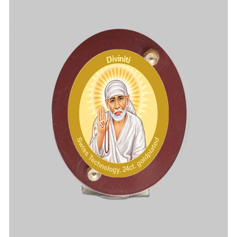 24K GOLD PLATED MDF 1D CLASSIC COLOR SAI BABA -2