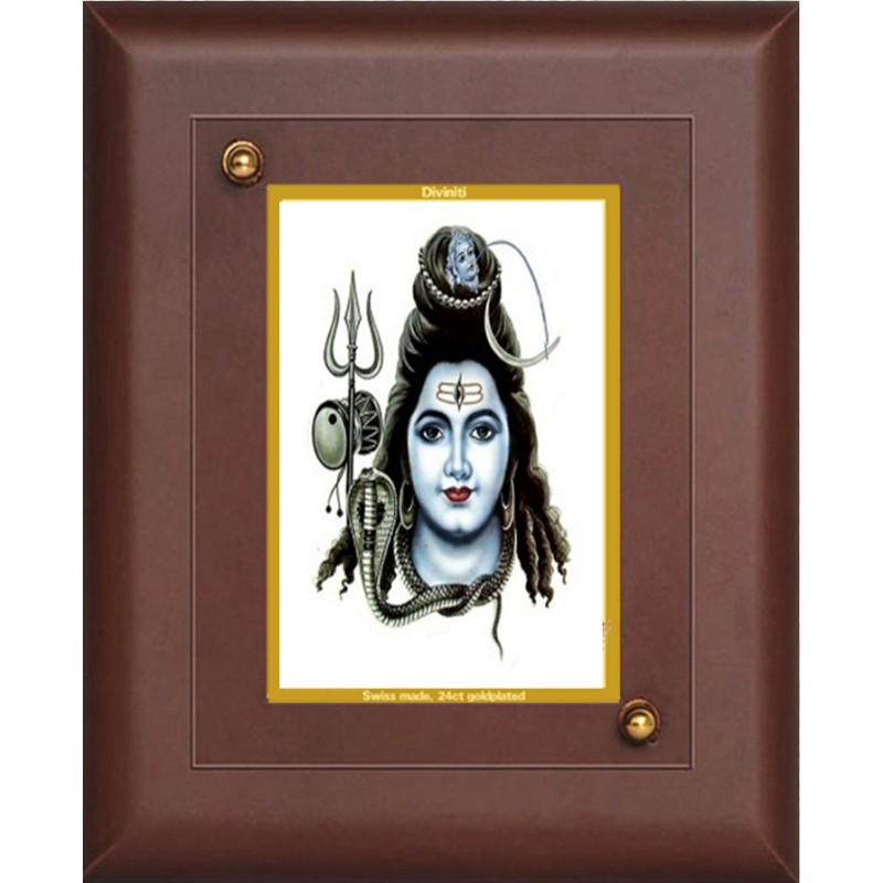 24K GOLD PLATED MDF FRAME SIZE 1 CLASSIC COLOR LORD SHIVA-6