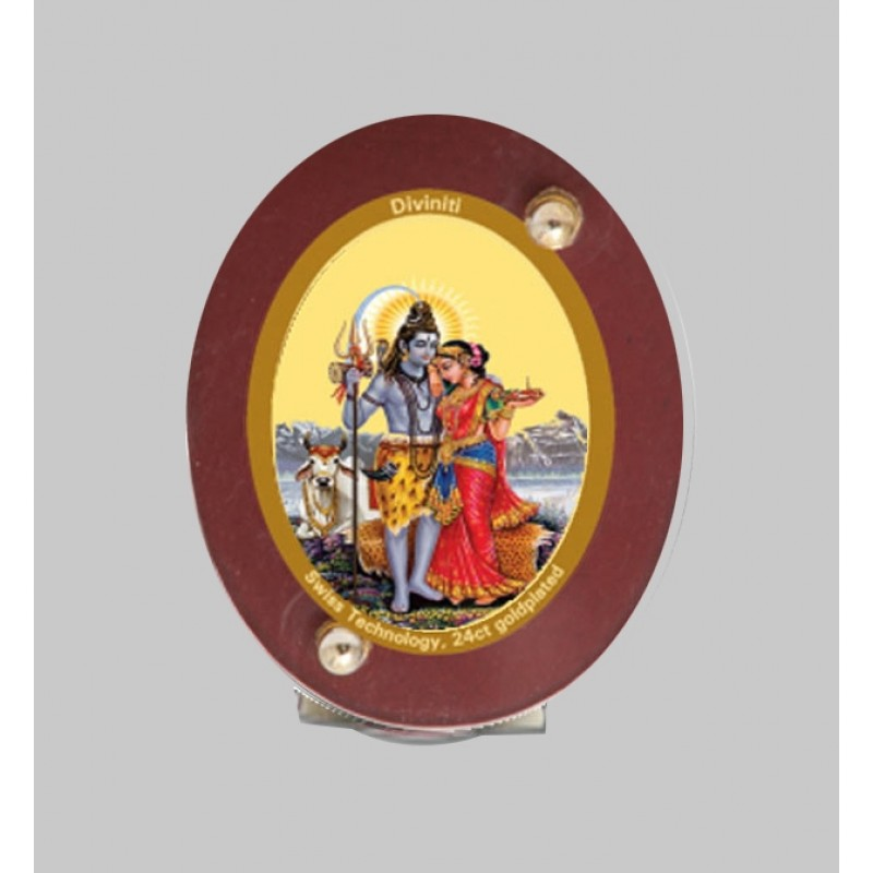 24K GOLD PLATED MDF 1D CLASSIC COLOR SHIV PARVATI
