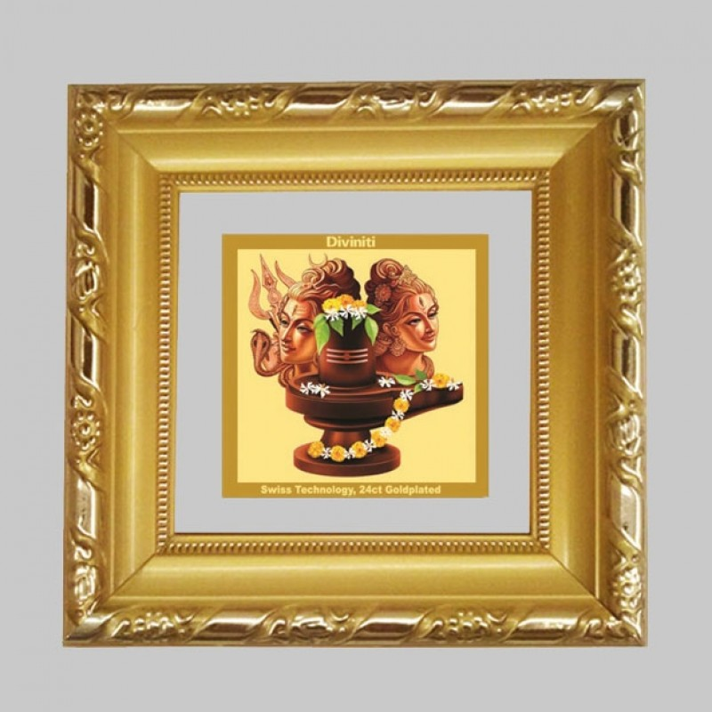 24K GOLD PLATED DG FRAME 103 SIZE 1A CLASSIC COLOR SHIVA PARVATI -4