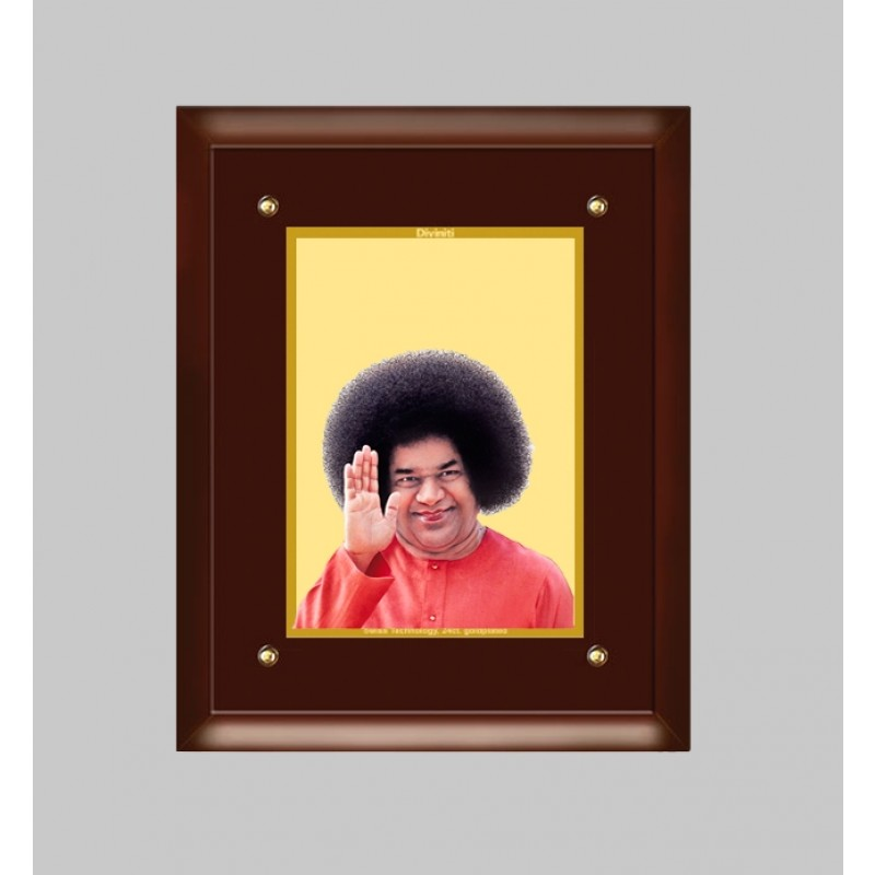 24K GOLD PLATED MDF FRAME SIZE 4 CLASSIC COLOR SATYA SAI
