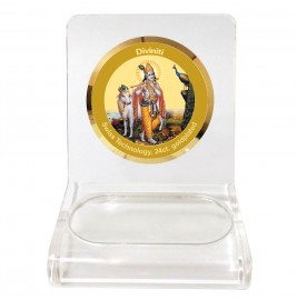 WPCF 1C CLASSIC COLOR CIRCULAR  KRISHNA WITH COW WHITE