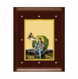 24K GOLD PLATED MDF FRAME SIZE 5 CLASSIC COLOR BABA BALAK NATH
