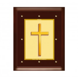 24K GOLD PLATED MDF FRAME SIZE 5 CLASSIC COLOR HOLY CROSS