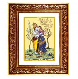 24K GOLD PLATED DG FRAME 93 SIZE 4.5 CLASSIC COLOR RADHA KRISHNA