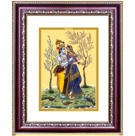 24K GOLD PLATED DG FRAME 105 SIZE 2 CLASSIC COLOR RADHA KRISHNA