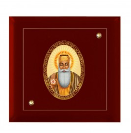 24K GOLD PLATED MDF FRAME SIZE 7D ROYALE COLOR GURU NANAK