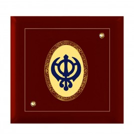 24K GOLD PLATED MDF FRAME SIZE 7D ROYALE COLOR KHANDA SAHIB