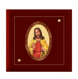 24K GOLD PLATED MDF FRAME SIZE 7D ROYALE COLOR JESUS