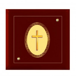 24K GOLD PLATED MDF FRAME SIZE 7D ROYALE COLOR CROSS