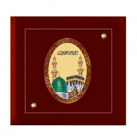 24K GOLD PLATED MDF FRAME SIZE 7D ROYALE COLOR MACCA MADINA