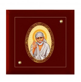 24K GOLD PLATED MDF FRAME SIZE 7D ROYALE COLOR SAI BABA-2