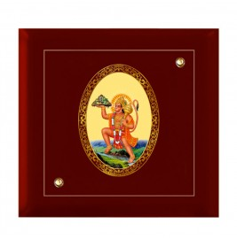 24K GOLD PLATED MDF FRAME SIZE 7D ROYALE COLOR HANUMAN