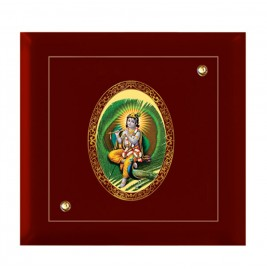 24K GOLD PLATED MDF FRAME SIZE 7D ROYALE COLOR OVAL KRISHNA-4