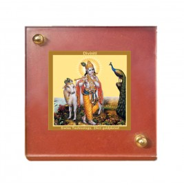 MDF 1B CLASSIC COLOR  SQUARE KRISHNA WITH COW