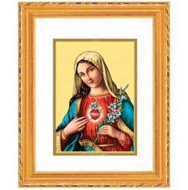 DG FRAME 103 SIZE 2 ROYALE  GOLD  OVAL MOTHER MARY
