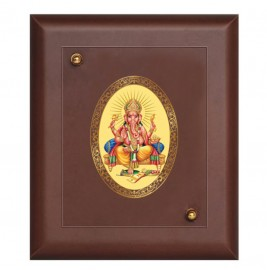 24K GOLD PLATED MDF FRAME SIZE 1 ROYALE COLOR GANESHA
