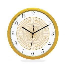 WALL CLOCK GOLD ROUND NUMERIC  NET