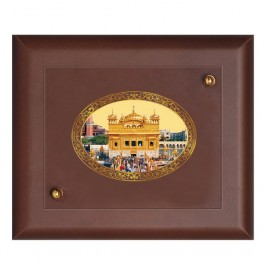 MDF FRAME SIZE 2 ROYALE COLOR  OVAL GOLDEN TEMPLE