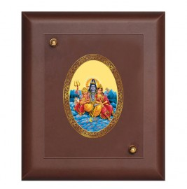 MDF FRAME SIZE 2 ROYALE COLOR  OVAL SHIV PARIVAR