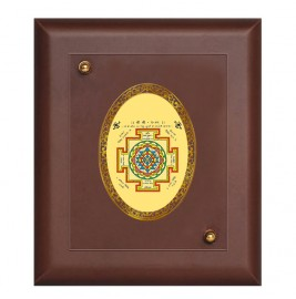 MDF FRAME SIZE 2 ROYALE COLOR  OVAL SHREE YANTRA