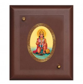 24K GOLD PLATED MDF FRAME SIZE 1 ROYALE COLOR HANUMAN ASHIRWAD