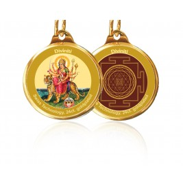 PENDANT DOUBLE SIDED SIZE 28MM DURGA & YANTRA
