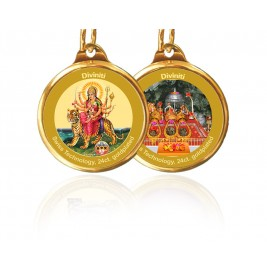 PENDANT DOUBLE SIDED SIZE 28MM DURGA & MATA KA DARBAR NEW