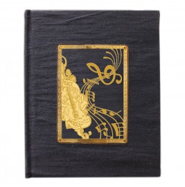 24K GOLD PLATED JOURNAL & NOTEBOOK ACRYLIC VIOLIN